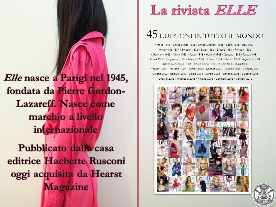 La rivista ELLE 45 EDIZIONI IN TUTTO IL MONDO