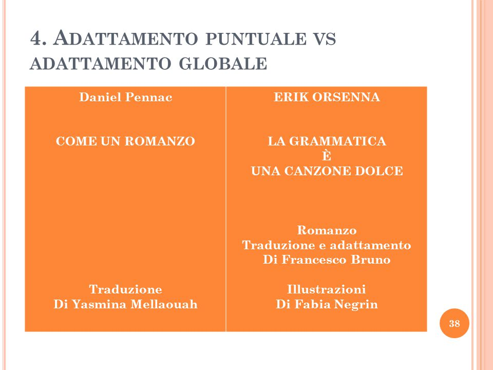 4. Adattamento puntuale vs adattamento globale
