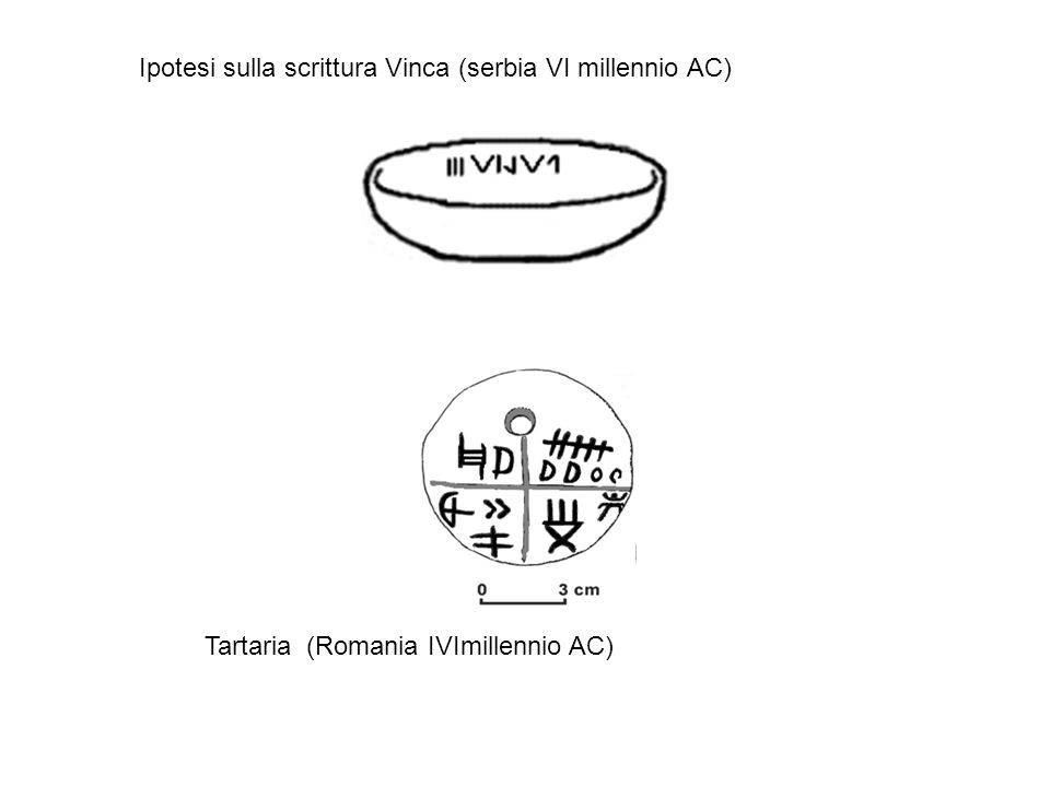 Ipotesi sulla scrittura Vinca (serbia VI millennio AC)