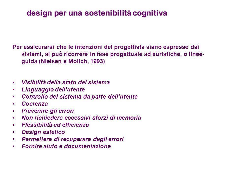 design per una sostenibilità cognitiva
