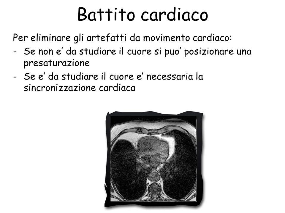 Battito cardiaco Per eliminare gli artefatti da movimento cardiaco: