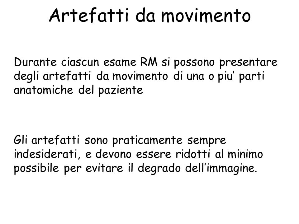 Artefatti da movimento