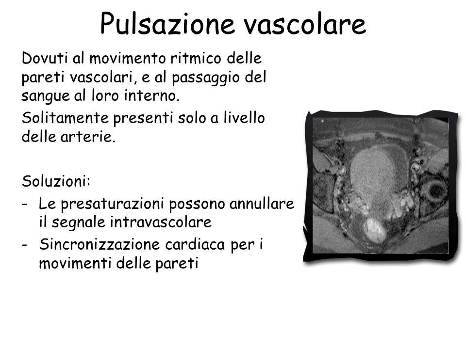 Pulsazione vascolare Dovuti al movimento ritmico delle pareti vascolari, e al passaggio del sangue al loro interno.