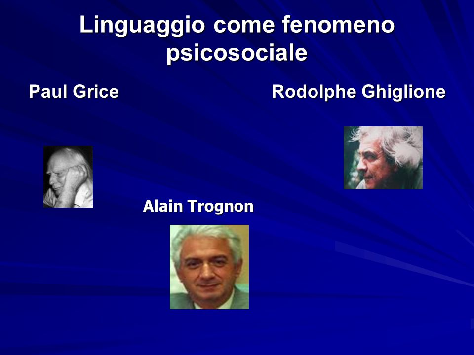 Linguaggio come fenomeno psicosociale