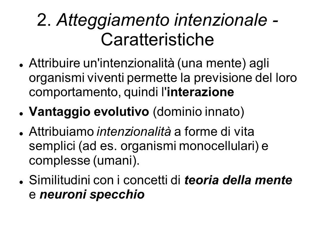 2. Atteggiamento intenzionale - Caratteristiche
