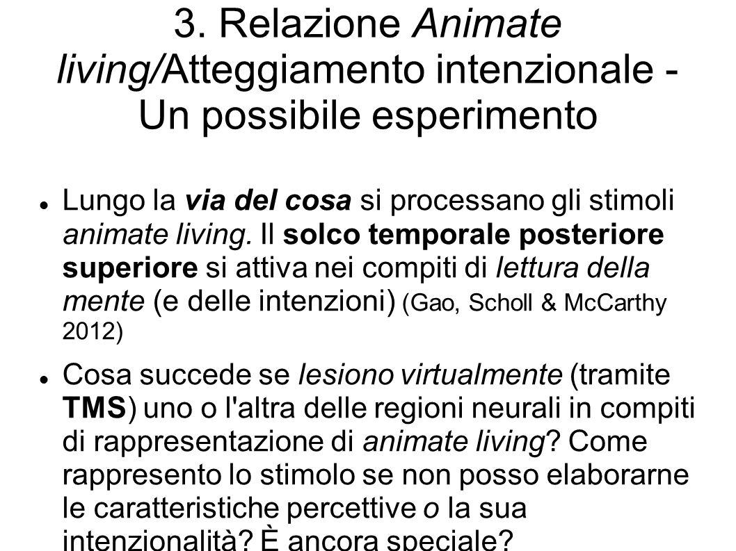 3. Relazione Animate living/Atteggiamento intenzionale - Un possibile esperimento