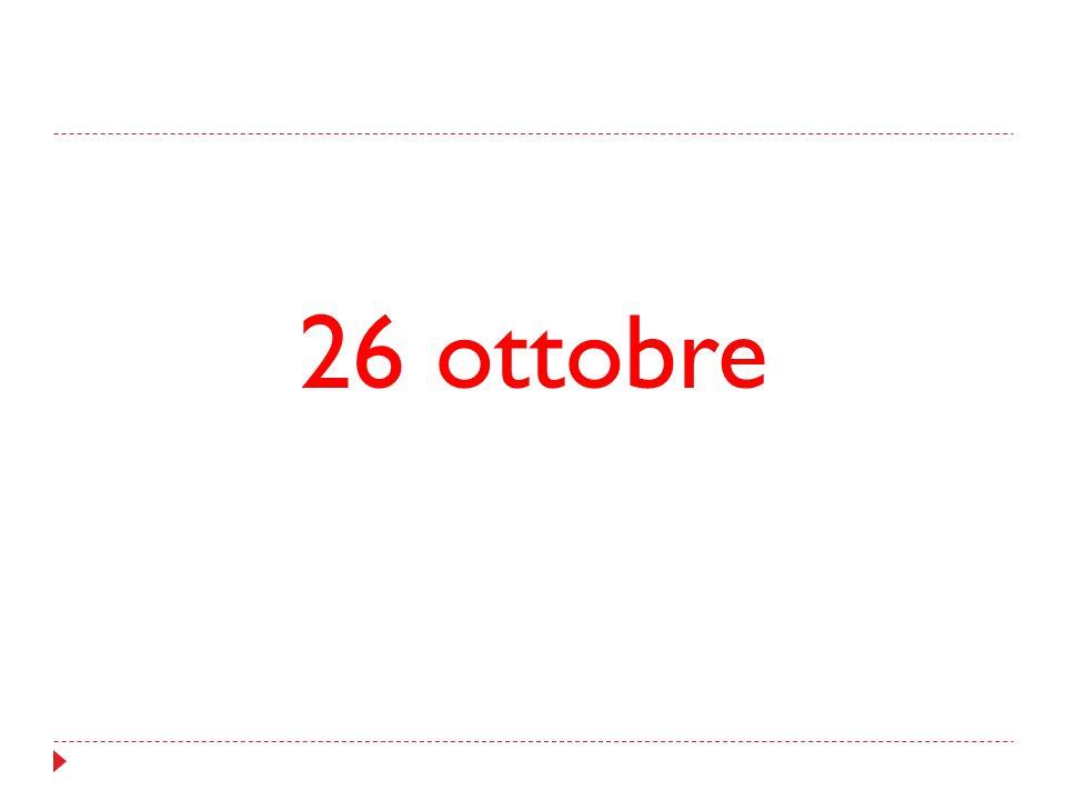 26 ottobre