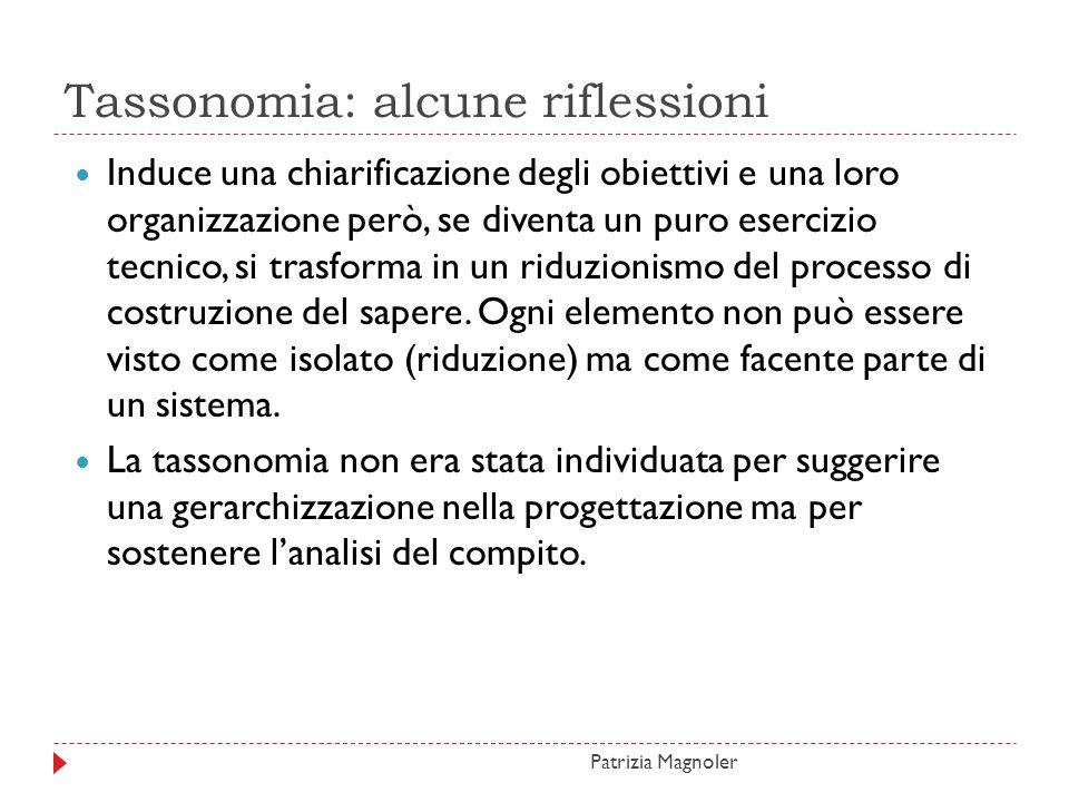 Tassonomia: alcune riflessioni