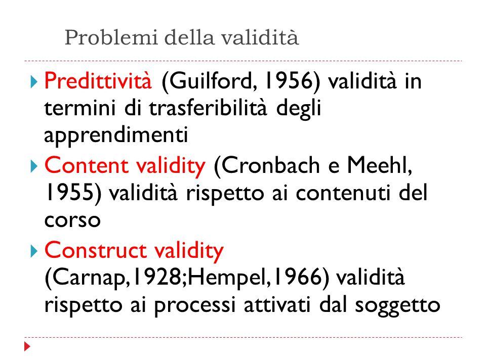 Problemi della validità