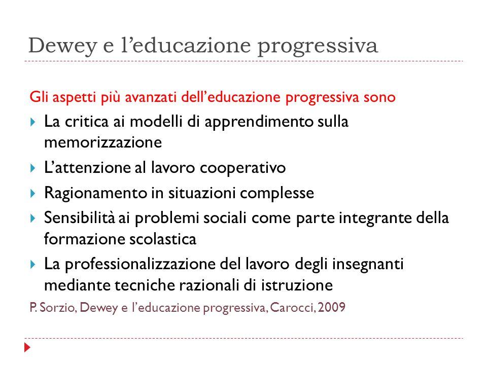 Dewey e l'educazione progressiva