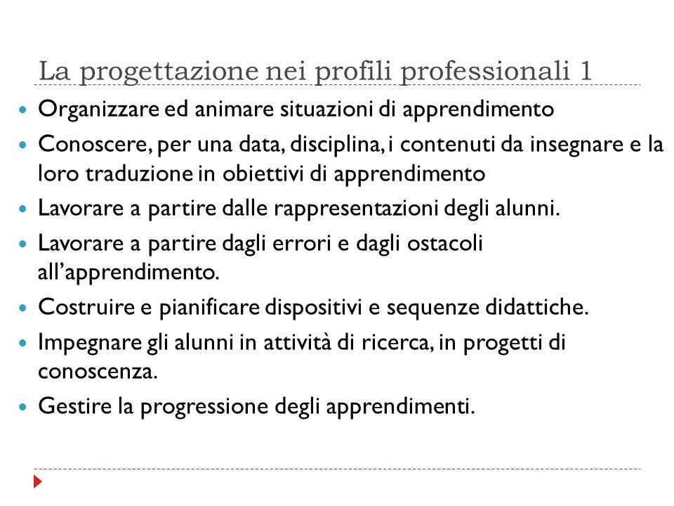 La progettazione nei profili professionali 1