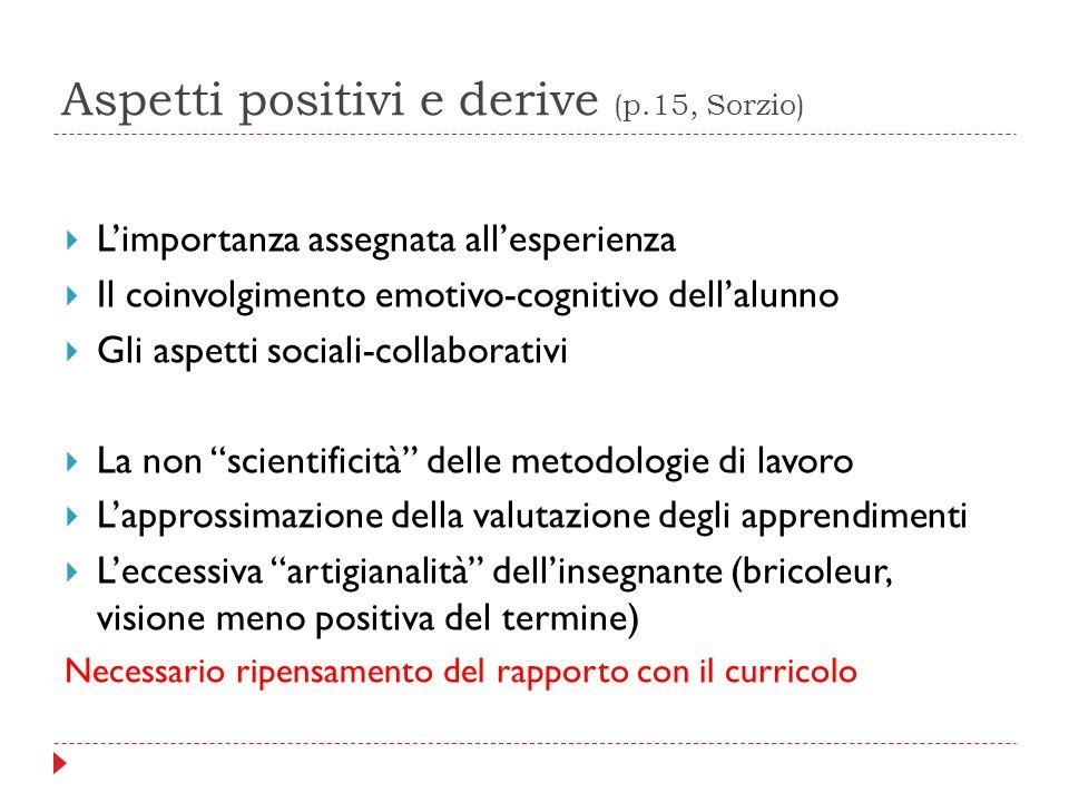 Aspetti positivi e derive (p.15, Sorzio)