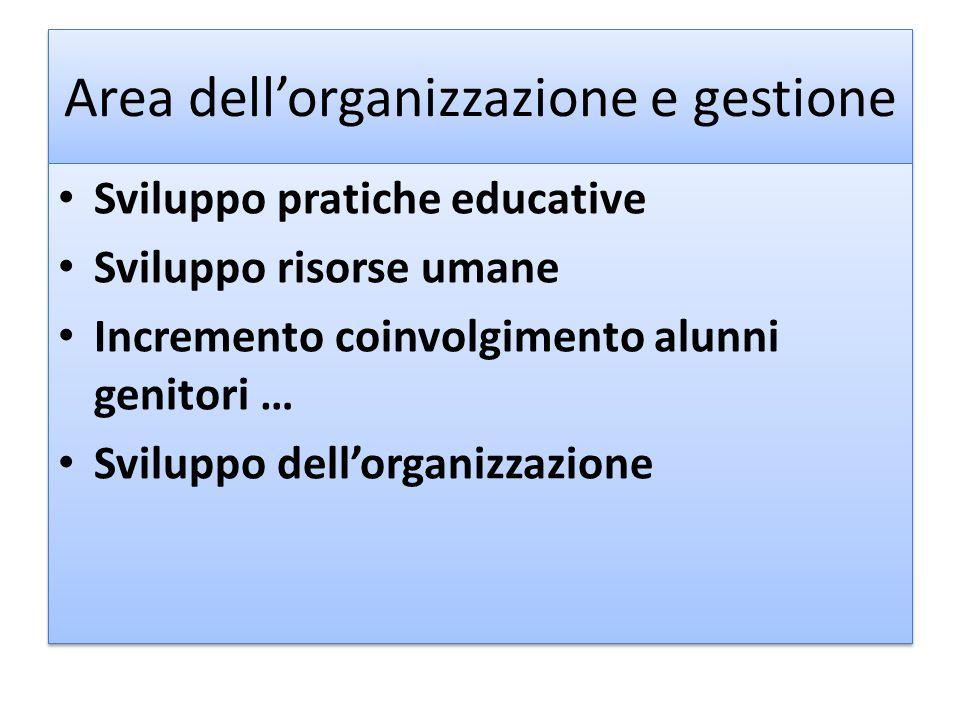 Area dell'organizzazione e gestione