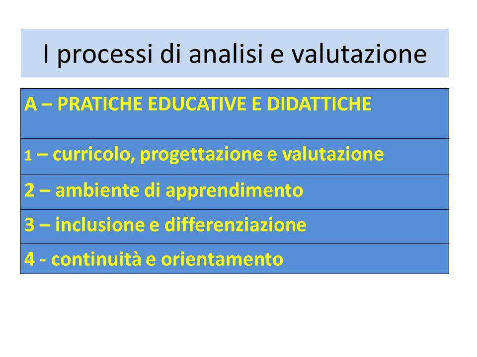 I processi di analisi e valutazione