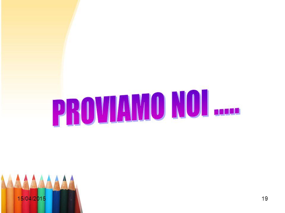 PROVIAMO NOI ..... 12/04/2017