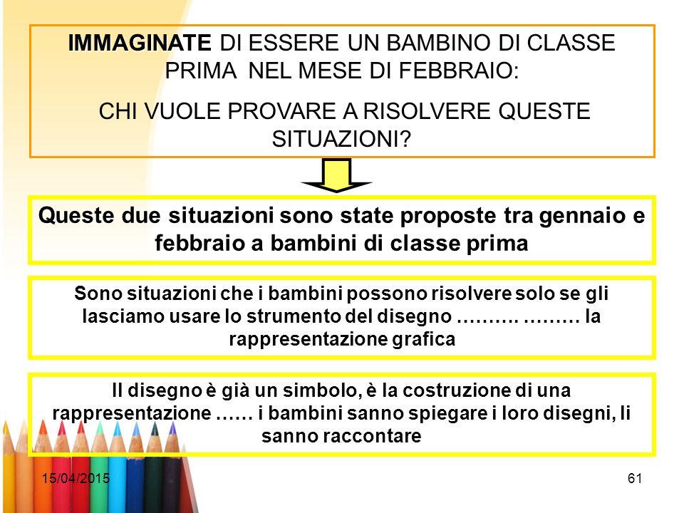 IMMAGINATE DI ESSERE UN BAMBINO DI CLASSE PRIMA NEL MESE DI FEBBRAIO: