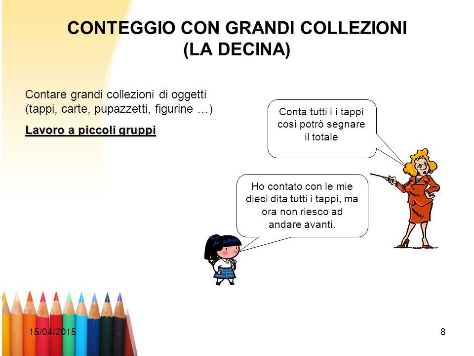 CONTEGGIO CON GRANDI COLLEZIONI (LA DECINA)