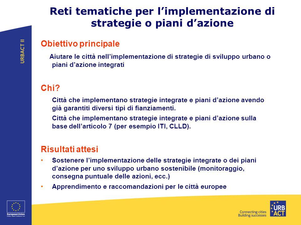 Reti tematiche per l'implementazione di strategie o piani d'azione
