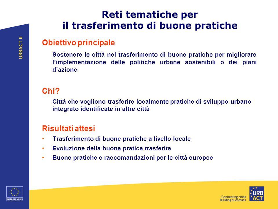 Reti tematiche per il trasferimento di buone pratiche