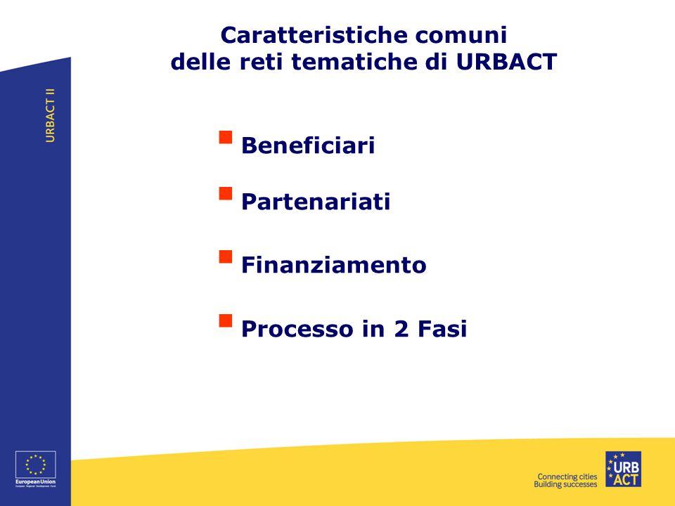 Caratteristiche comuni delle reti tematiche di URBACT
