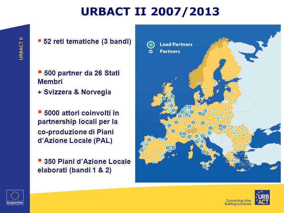 URBACT II 2007/2013 500 partner da 26 Stati Membri