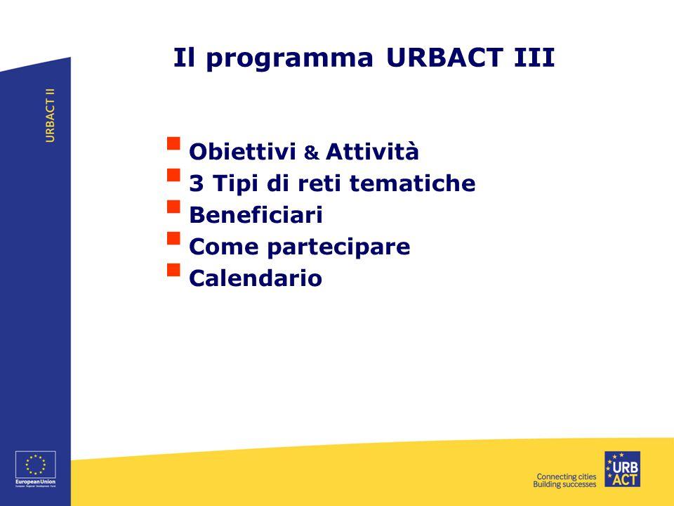 Il programma URBACT III