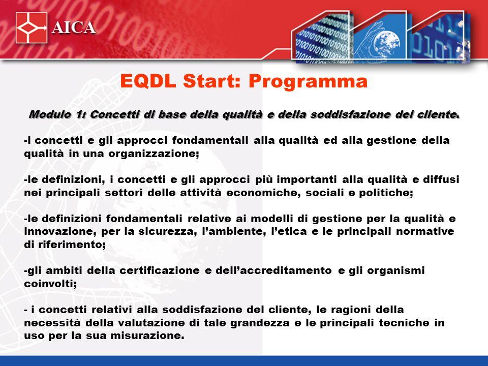 Modulo 2: Le norme ISO 9000 e i processi di valutazione.
