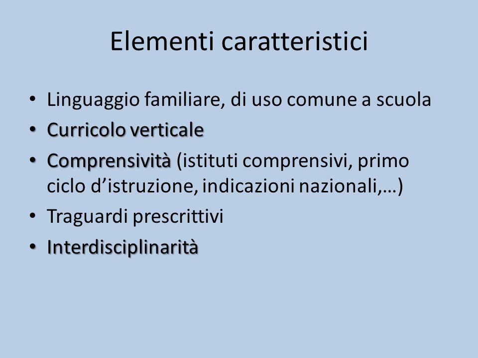 Elementi caratteristici