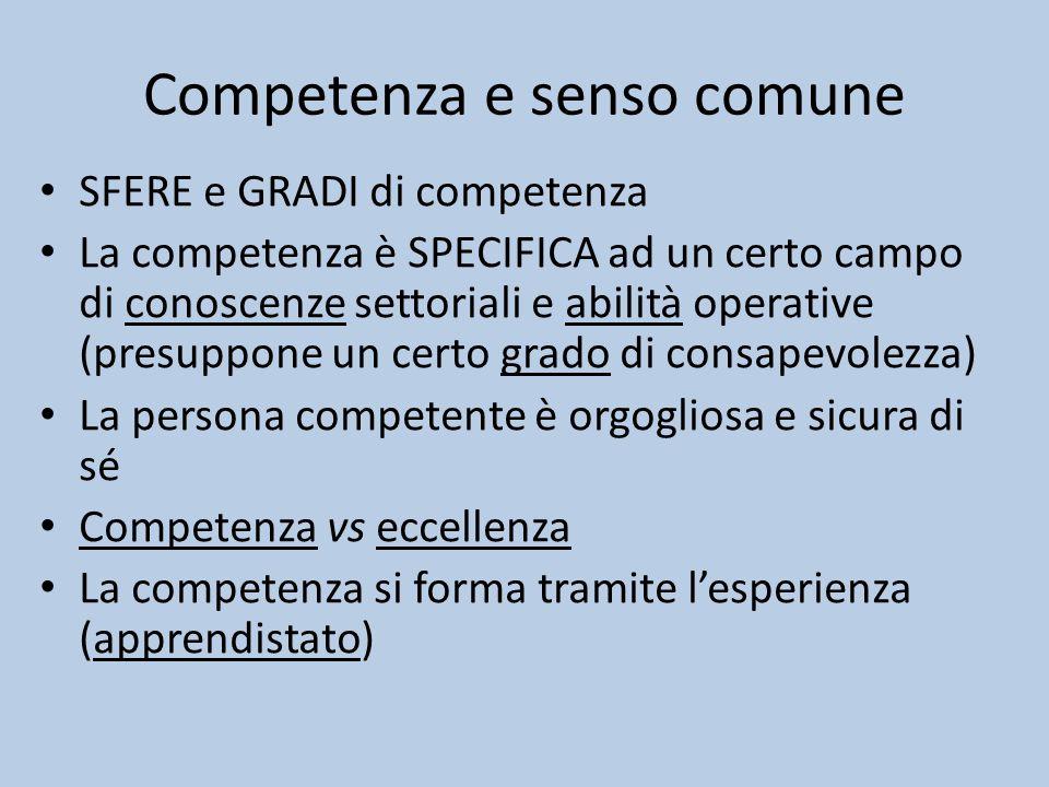 Competenza e senso comune
