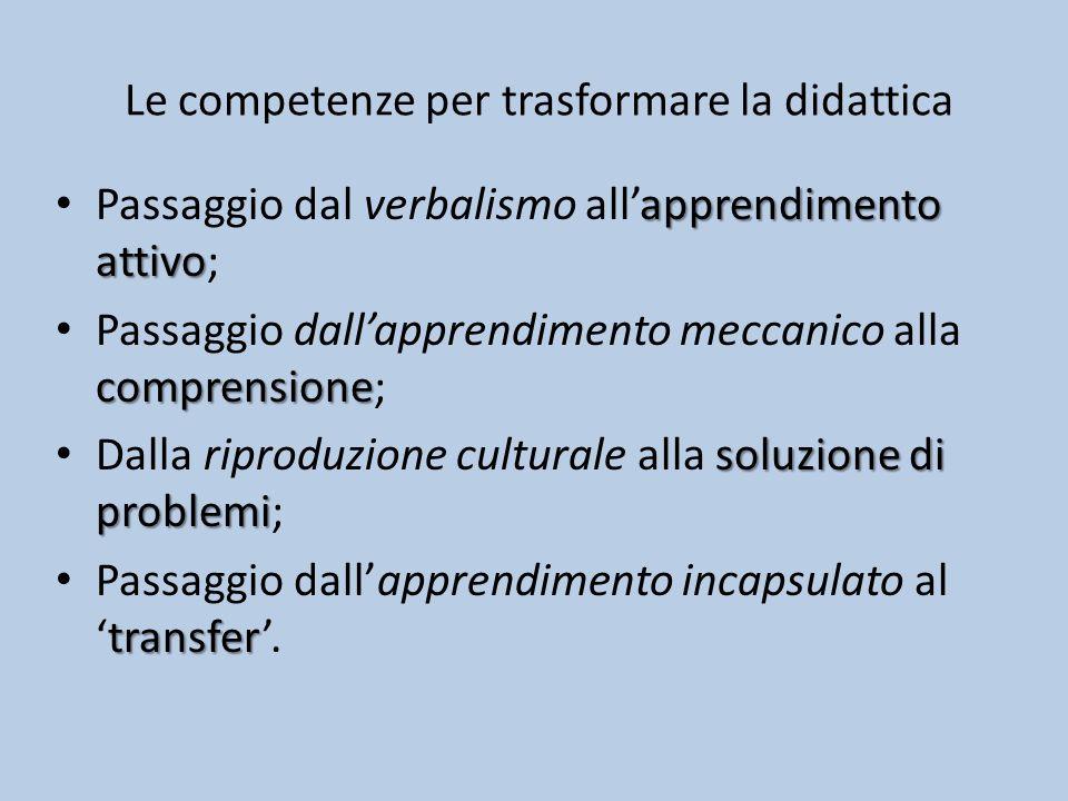 Le competenze per trasformare la didattica