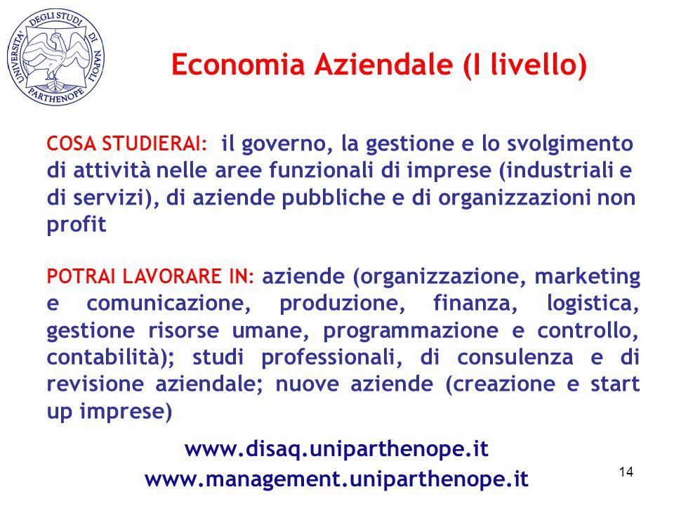 Economia Aziendale (I livello)