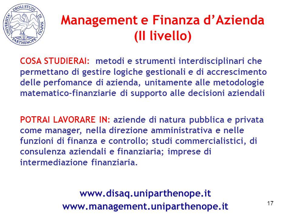 Management e Finanza d'Azienda