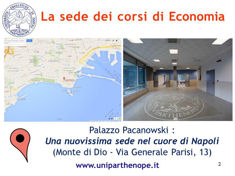 La sede dei corsi di Economia Una nuovissima sede nel cuore di Napoli
