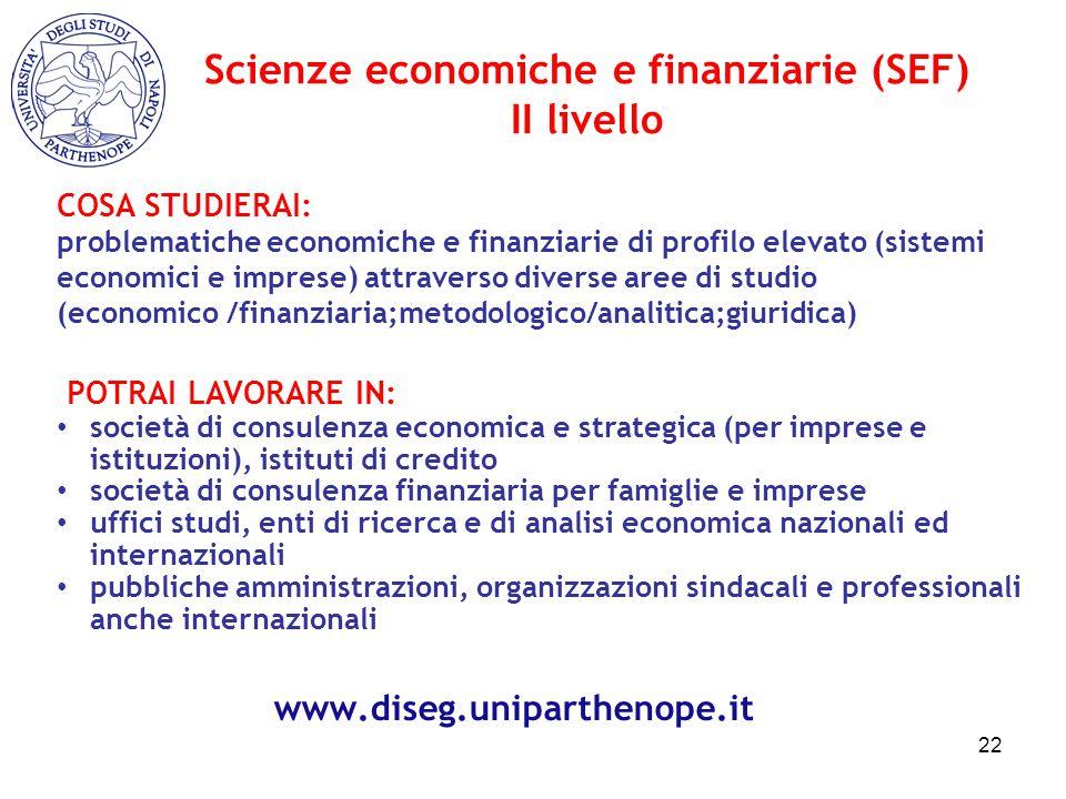 Scienze economiche e finanziarie (SEF)