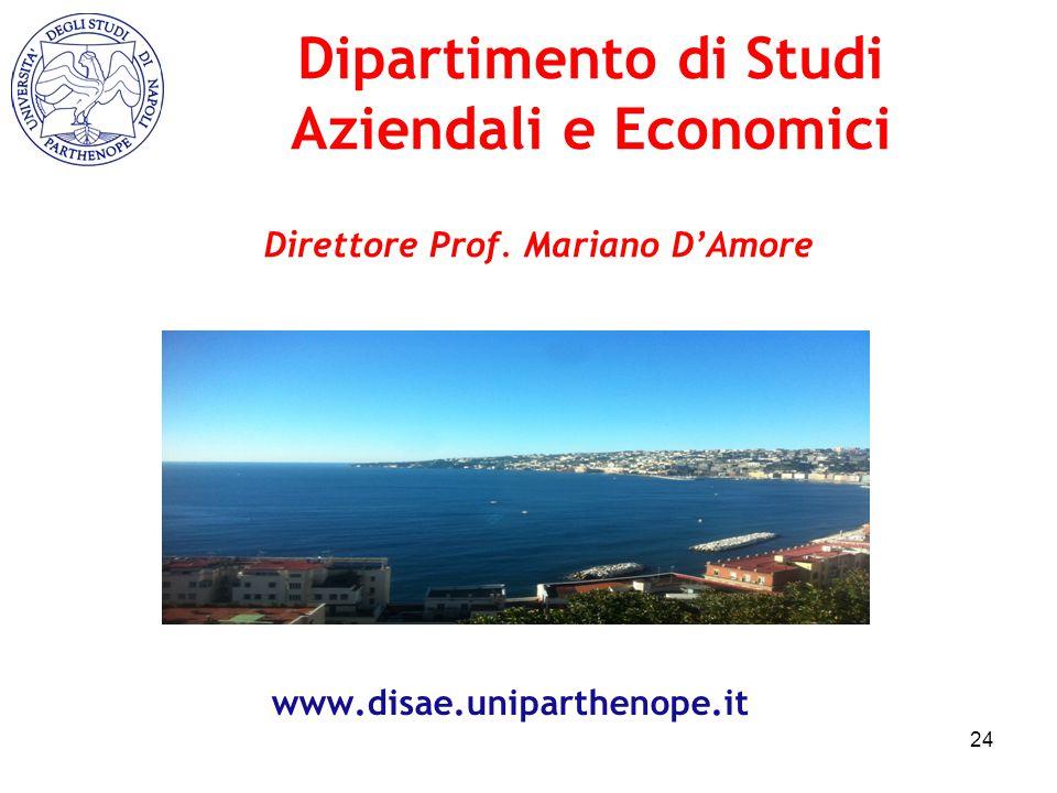 Dipartimento di Studi Aziendali e Economici