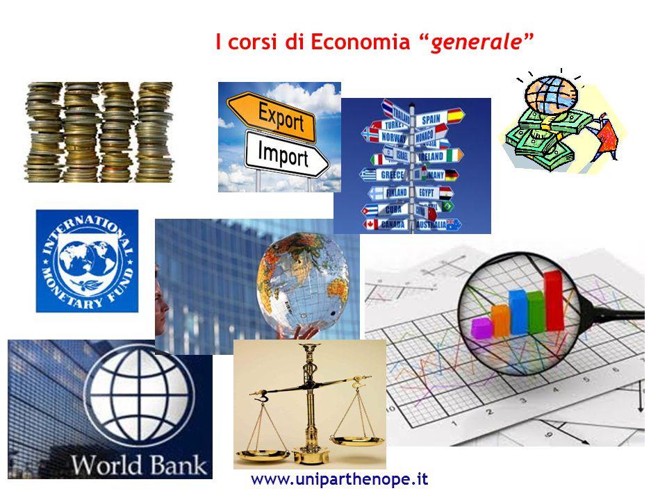 I corsi di Economia generale