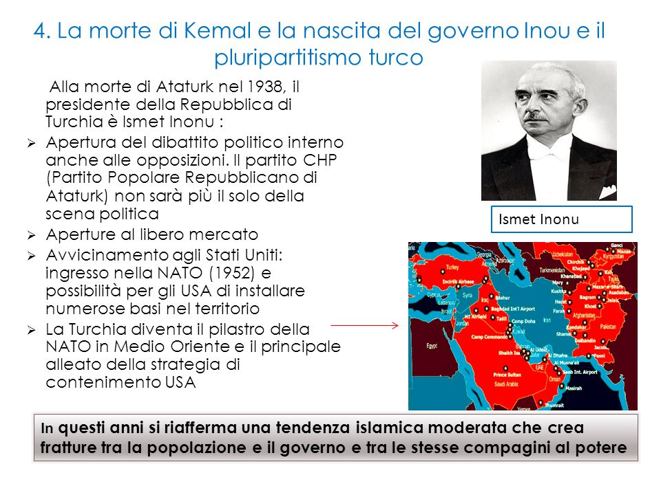 4. La morte di Kemal e la nascita del governo Inou e il pluripartitismo turco