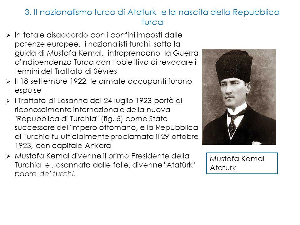 3. Il nazionalismo turco di Ataturk e la nascita della Repubblica turca