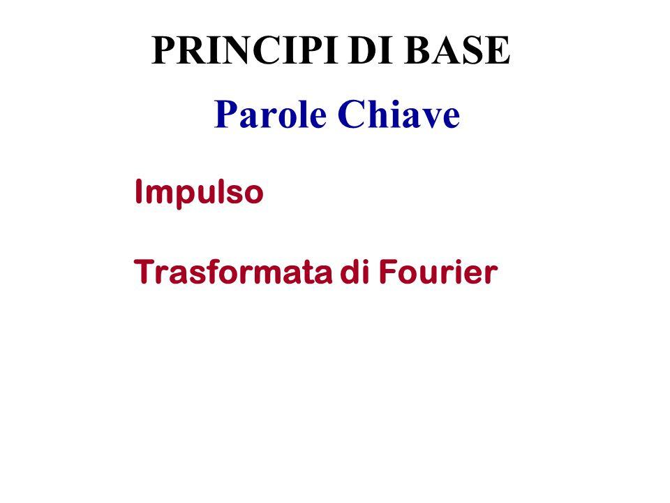 PRINCIPI DI BASE Parole Chiave Impulso Trasformata di Fourier