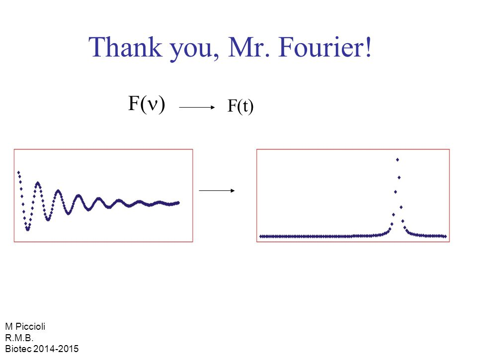 Thank you, Mr. Fourier! F(n) F(t) M Piccioli R.M.B. Biotec 2014-2015