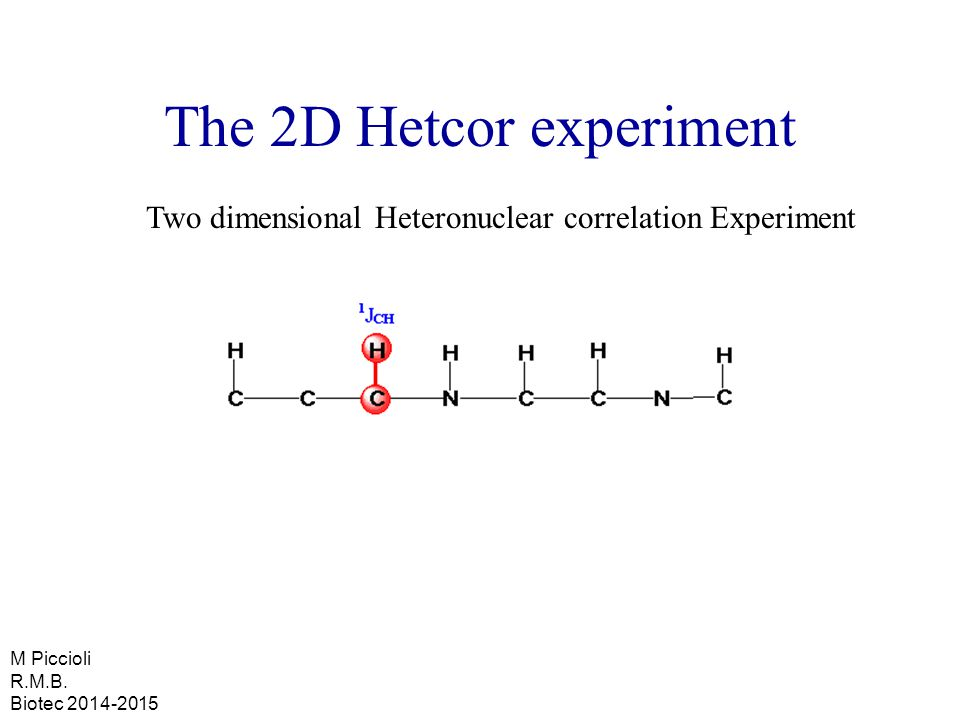 The 2D Hetcor experiment