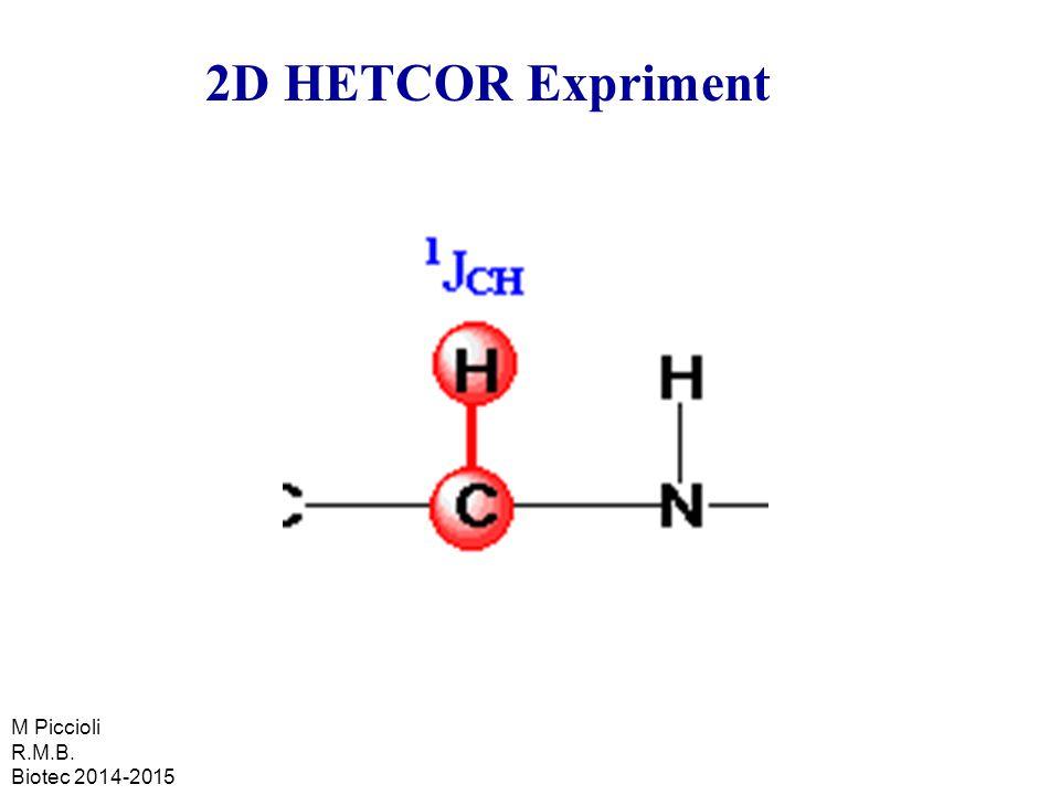 2D HETCOR Expriment M Piccioli R.M.B. Biotec 2014-2015