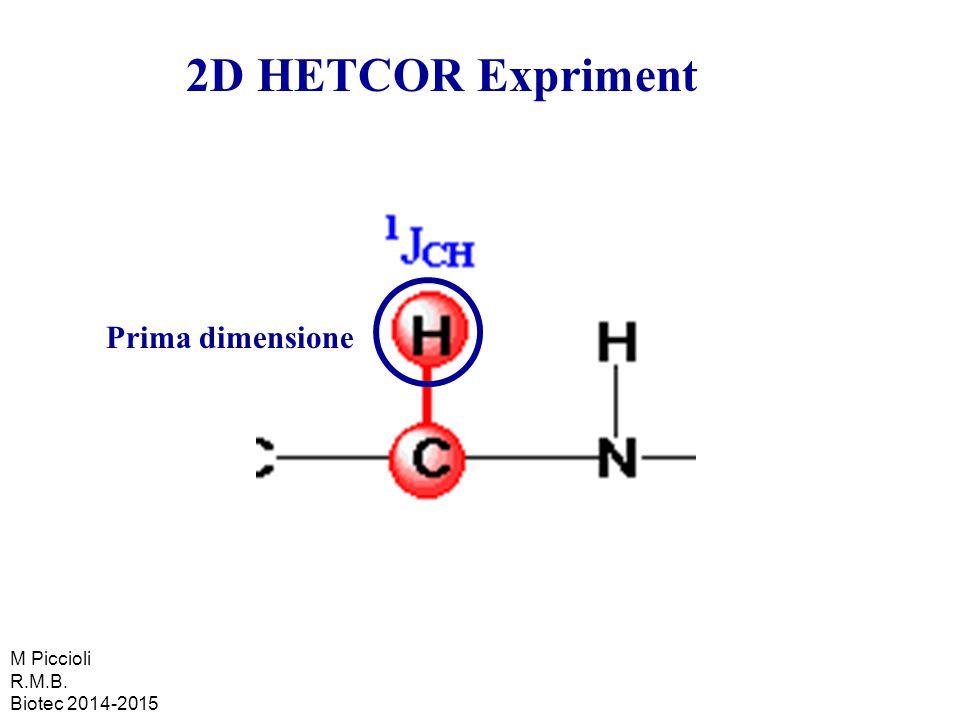 2D HETCOR Expriment Prima dimensione M Piccioli R.M.B.