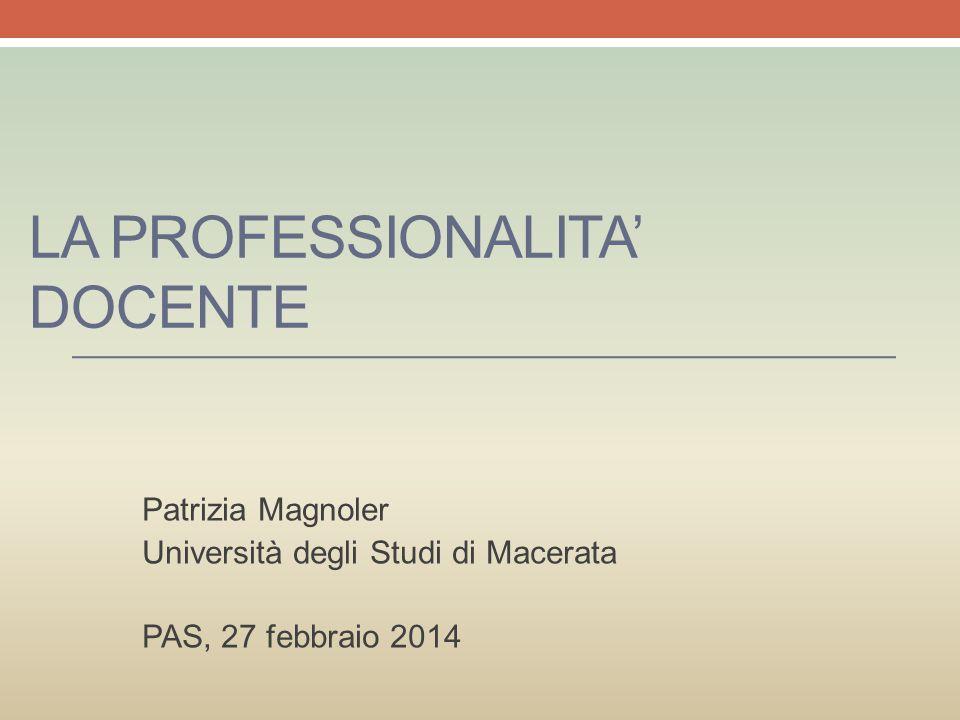La professionalita' docente