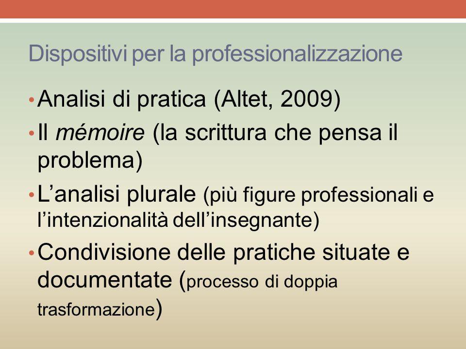 Dispositivi per la professionalizzazione