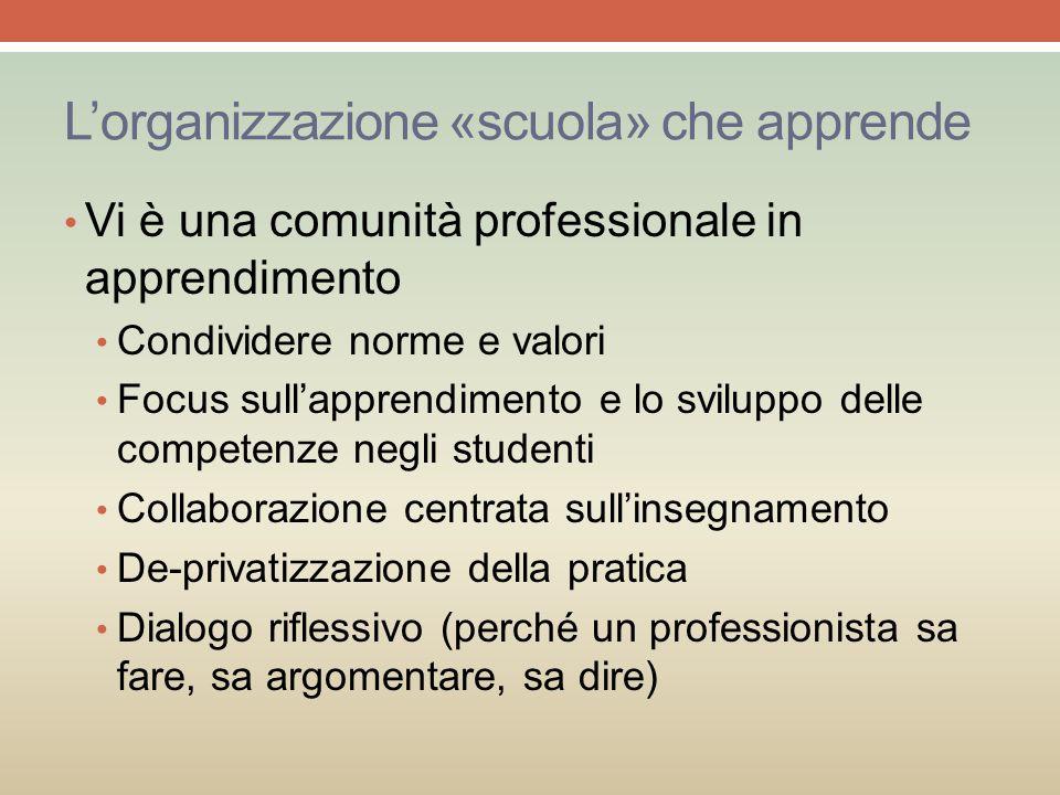 L'organizzazione «scuola» che apprende