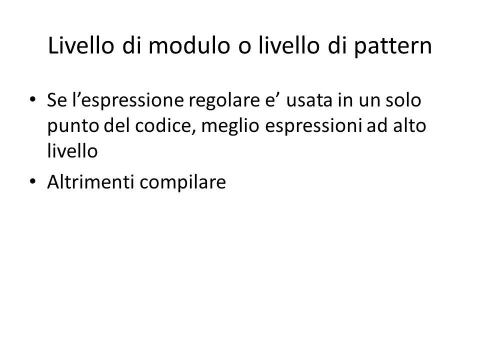 Livello di modulo o livello di pattern