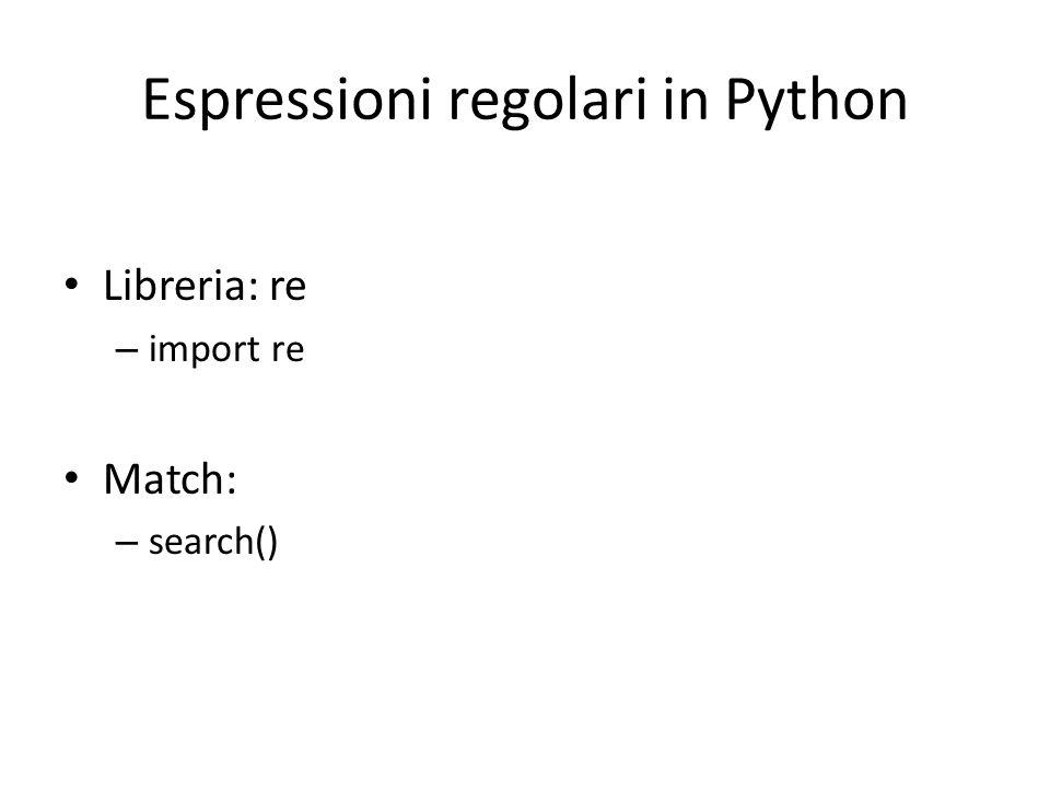 Espressioni regolari in Python