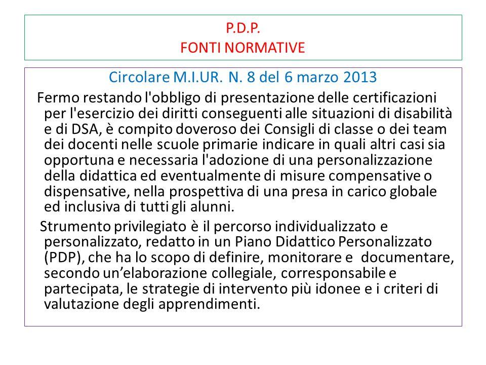 Circolare M.I.UR. N. 8 del 6 marzo 2013