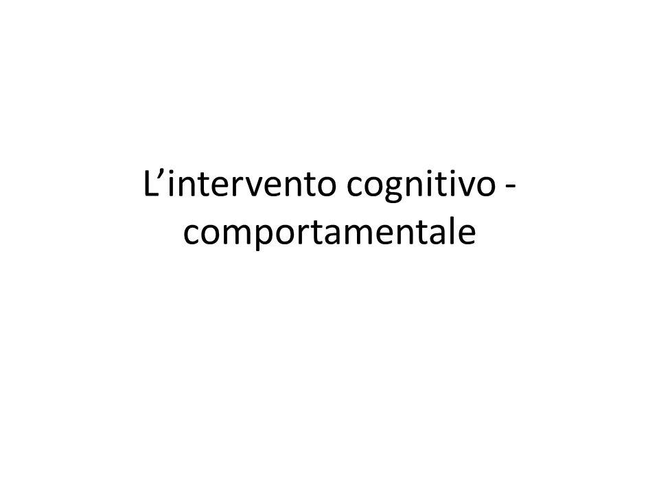 L'intervento cognitivo -comportamentale